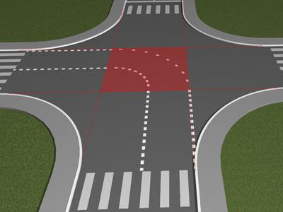 Правила проезда перекрёстков. Поворот налево и разворот