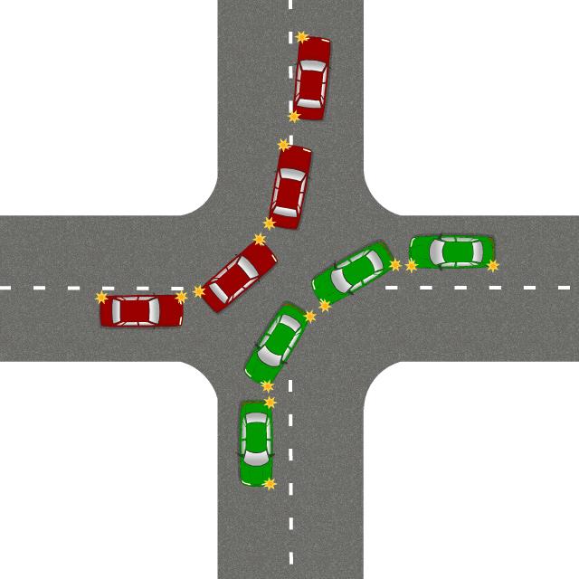Поворот налево на перекрёстке