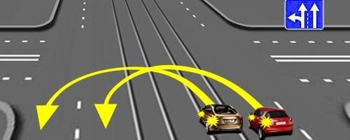 Разворот на перекрёстке с трамвайными путями