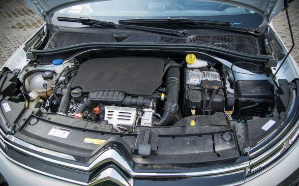 Под капотом тестируемого Citroen находился базовый бензиновый двигатель