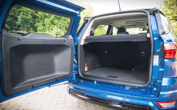 Багажник EcoSport имеет объем 356 литров