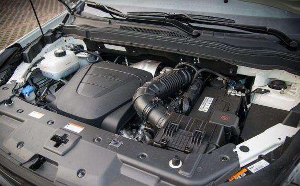 Испытываемый образец был оснащен дизельным двигателем