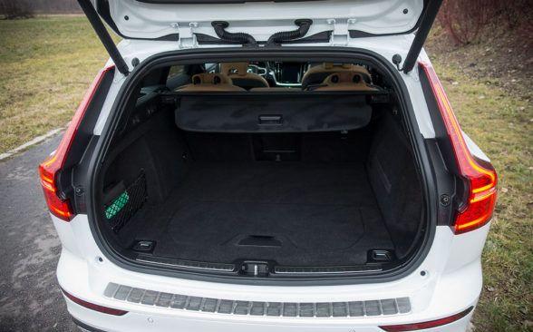 Багажник тестируемого Volvo составляет 529 литров